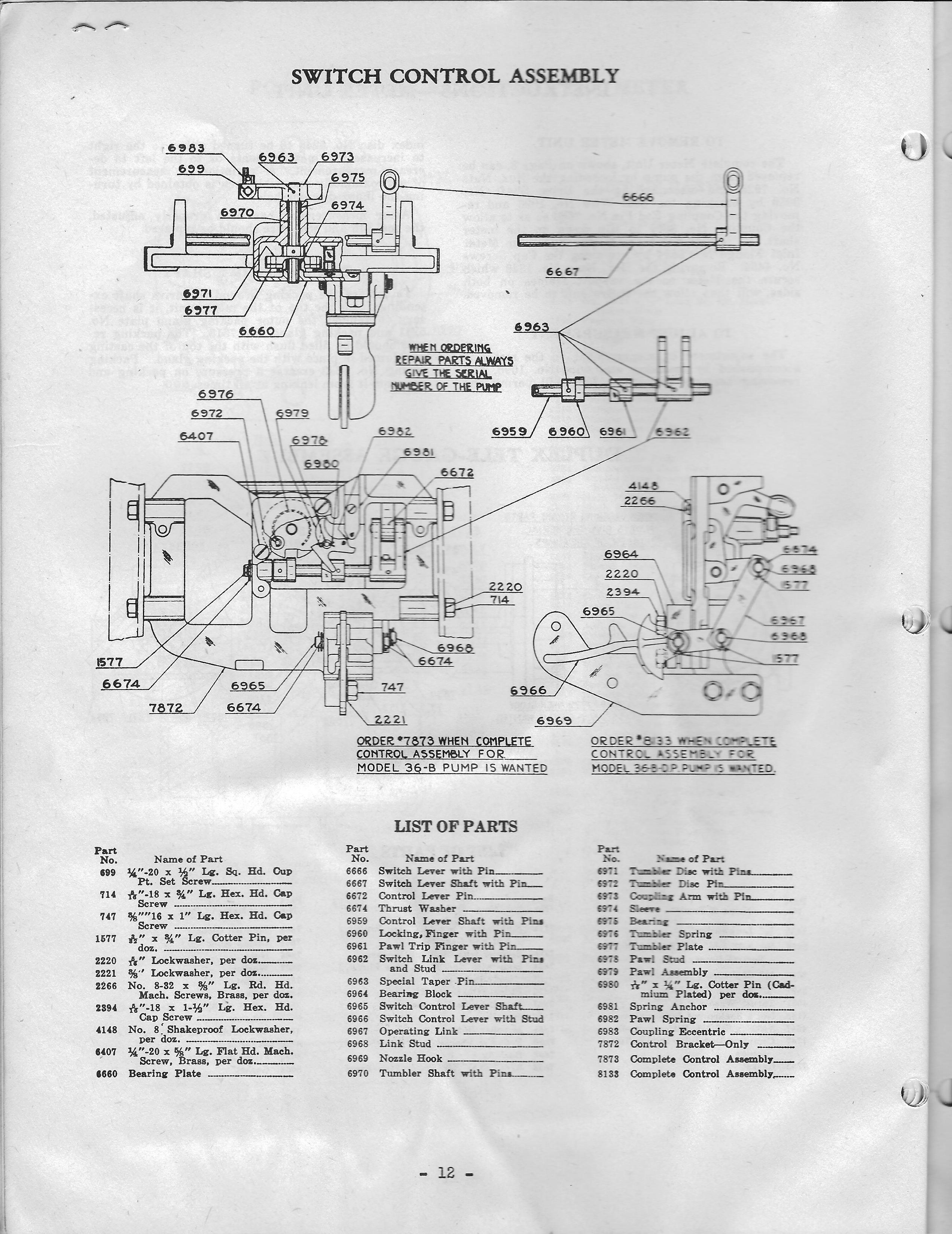glass gaspumps us old gas pump parts Goodman Heat Pump Wiring Diagram tokheim 36 b tokheim 36 b
