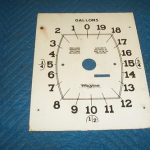 Wayne 60 866 Clock Face Plate Totalizer Side