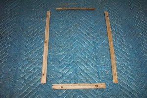 T 39 t Door glass bezel glass retainers, set of 4