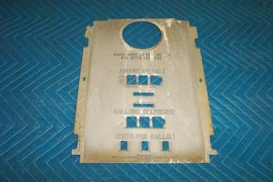36b Tin faceplate with totalizer slots