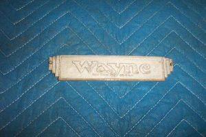 Wayne 60 Narrow Body Nameplate