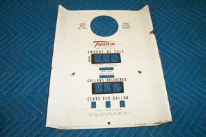 39 t Porcelain face plate with totalizer slots