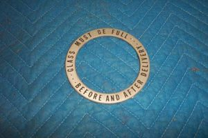 T 39 t sight glass trim ring with writing