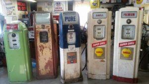 National, Wayne Vintage Gas Pumps