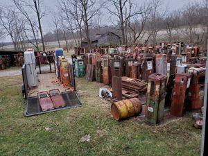 Unrestored Gas Pumps