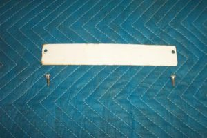 Wayne 505 Dual Porcealin Face Plate Cover With Fasteners