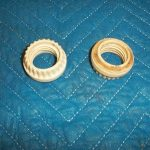 Porcelain Threaded Nut For Light Sockets