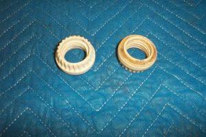 Porcelain Threaded Nut For Light Sockets