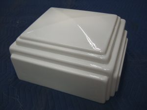Tokheim 36B Milk Glass Top, New Old Stock