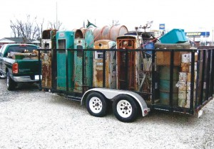 Trailer load of electric pumps